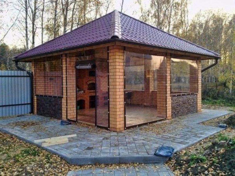 Летний домик с печкой (камином)