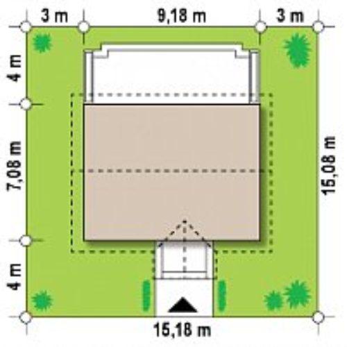 Схема дома из газобетона №1 (59,2 м²)