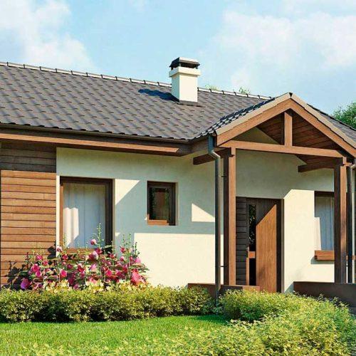 Проект дома из газобетона №1 (59,2 м²)