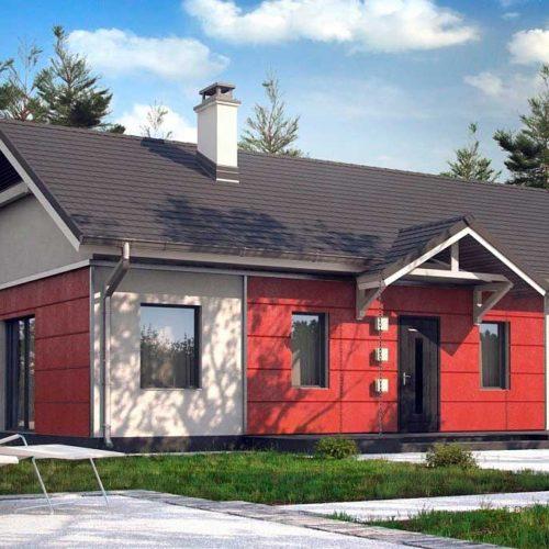 Проект дома из газобетона №2 (96,4 м²)