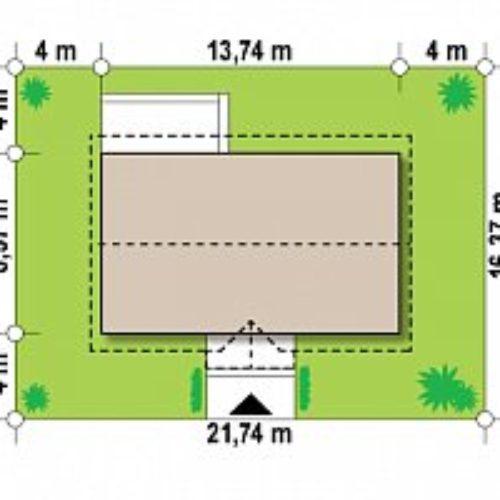 Схема дома из газобетона №2 (96,4 м²)