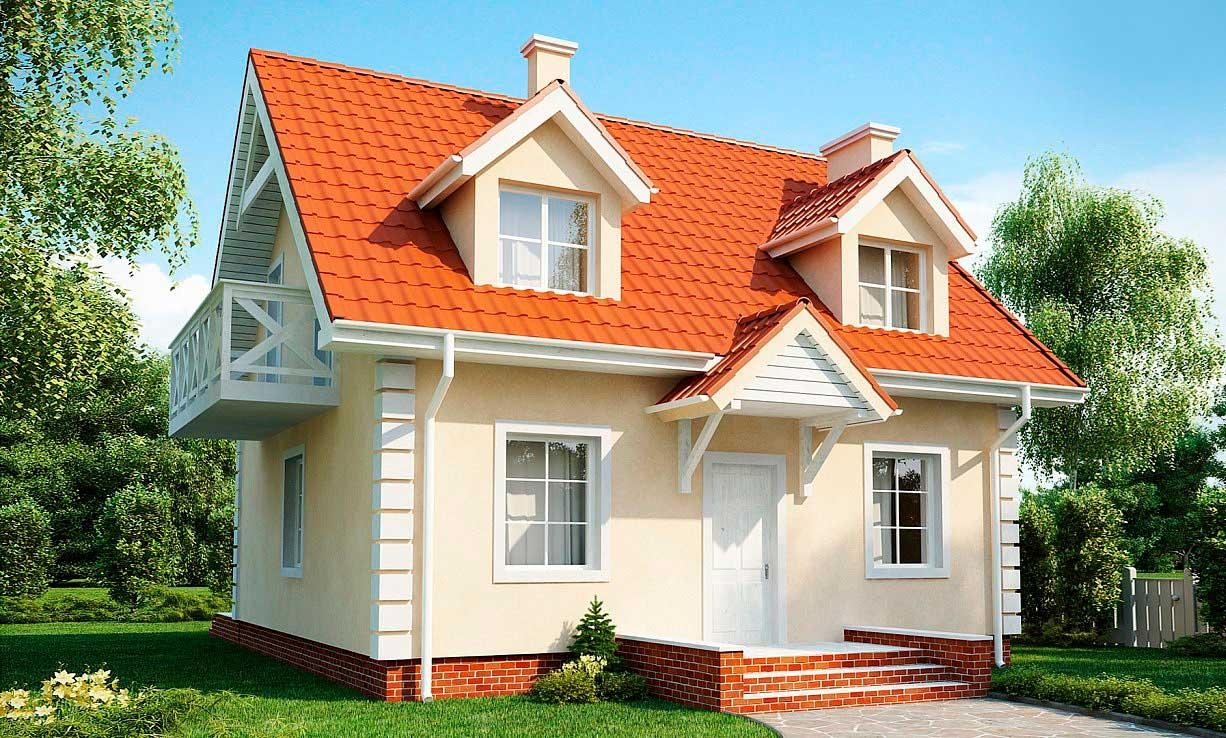 Проект двухэтажного дома из газобетона №3 (110,1 м²)
