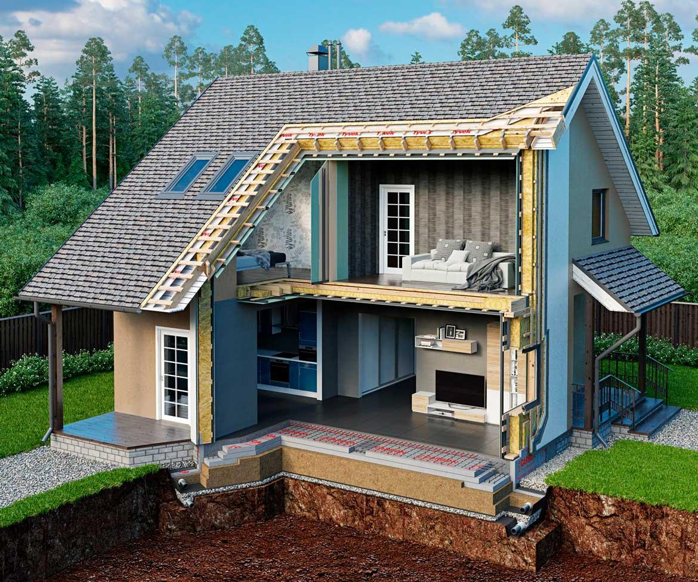 Частный дом в разрезе