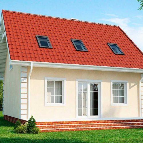 Проект дома из газобетона №3 (110,1 м²)