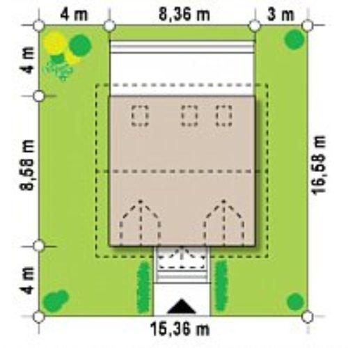 Схема дома из газобетона №3 (110,1 м²)