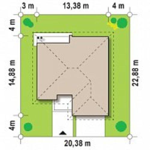 Схема дома из газобетона №5 (141,9 м²)