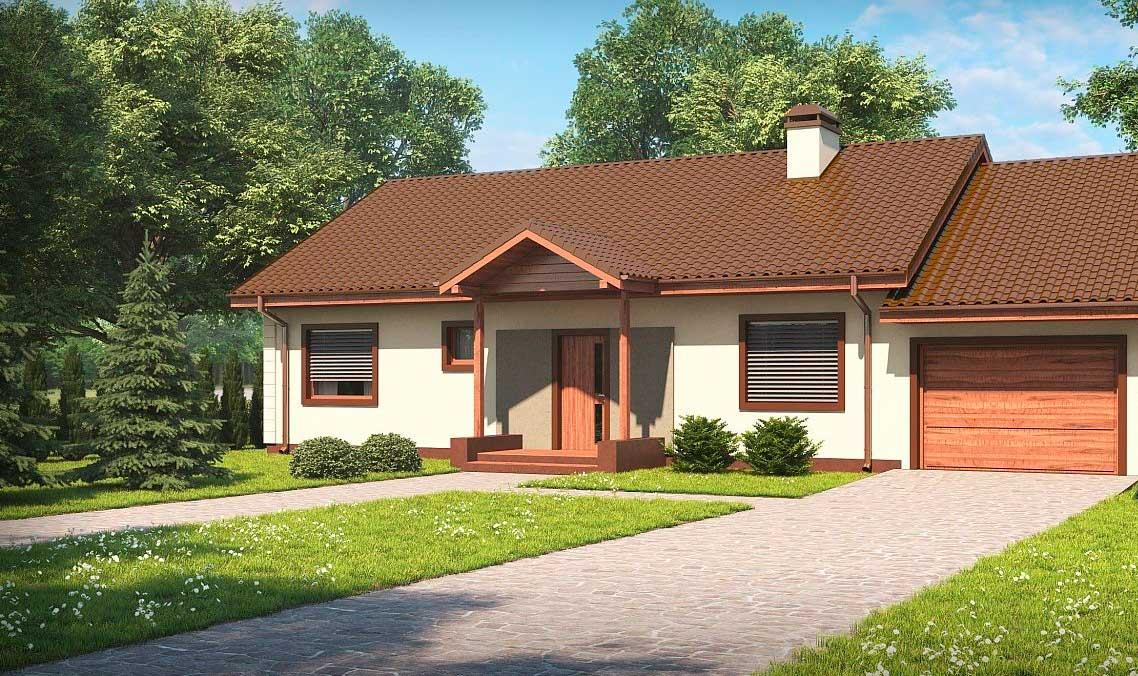 Проект дома из газобетона №6 (148,6 м²)