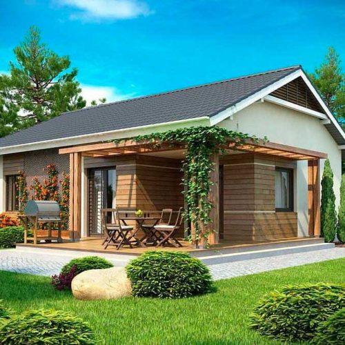 Проект дома из газобетона №8 (75,3 м²)