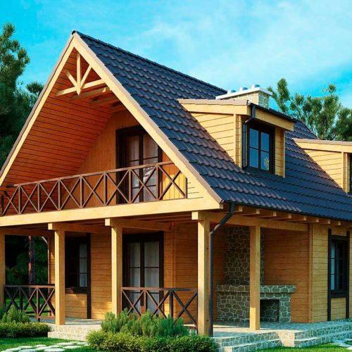Проект дома из бруса №2 (108,3 м²)