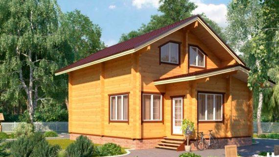 Проект дома из бруса №3 (105 м²)