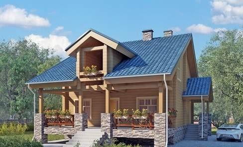Проект дома из бруса №4 (131,5 м²)