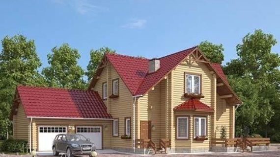 Проект дома из бруса №5 (184,5 м²)