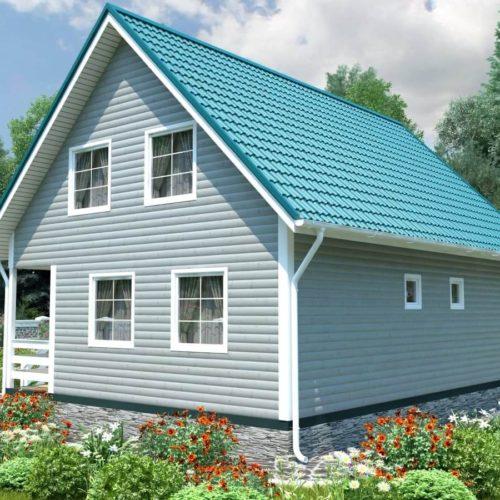 Проект дома из бруса №6 (134,5 м²)