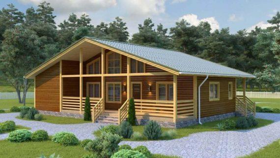 Проект дома из бруса №7 (145.9 м²)