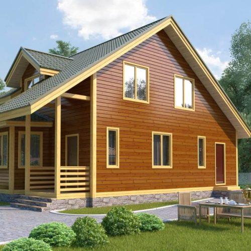 Проект дома из бруса №8 (133 м²)