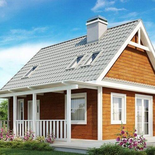 Проект дома из каркаса №1 (84 м²)