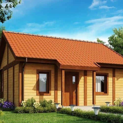 Проект каркасного дома №2 (37,6 м²)