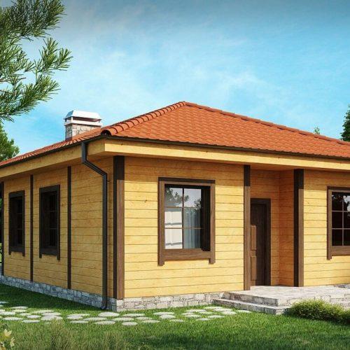 Проект каркасного дома №3 (73,3 м²)