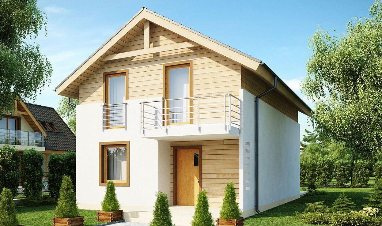 Проект дома из каркаса №4 (71 м²)