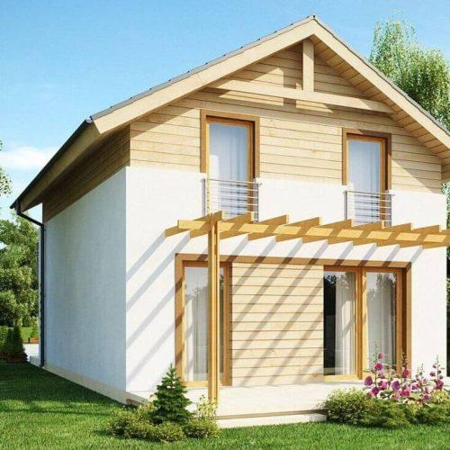 Проект каркасного дома №4 (71 м²)