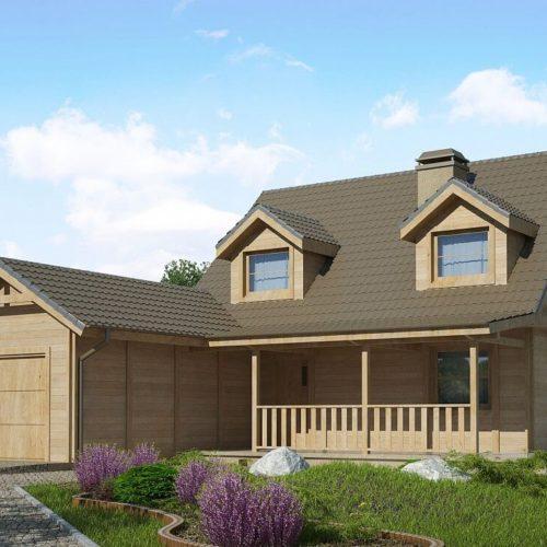 Проект дома из каркаса №5 (134,6 м²)