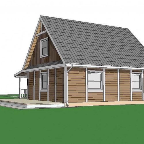 Проект каркасного дома №5 (134,6 м²)
