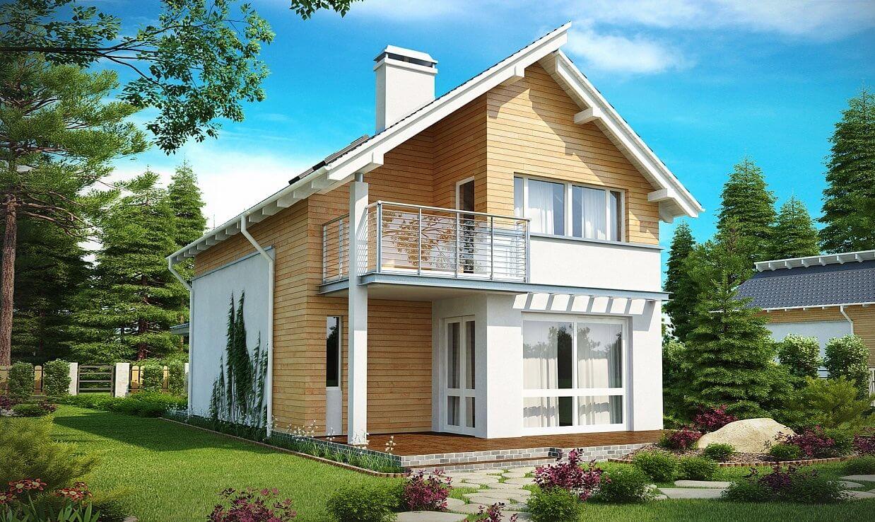 Проект дома из каркаса №6 (126,4 м²)