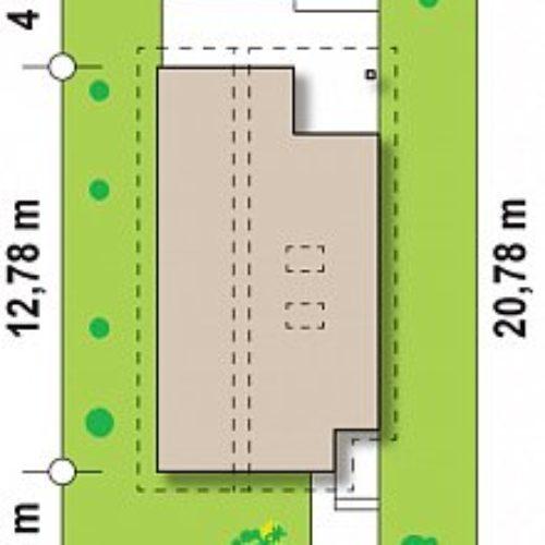 Размеры участка дома из каркаса №6 (126,4 м²)