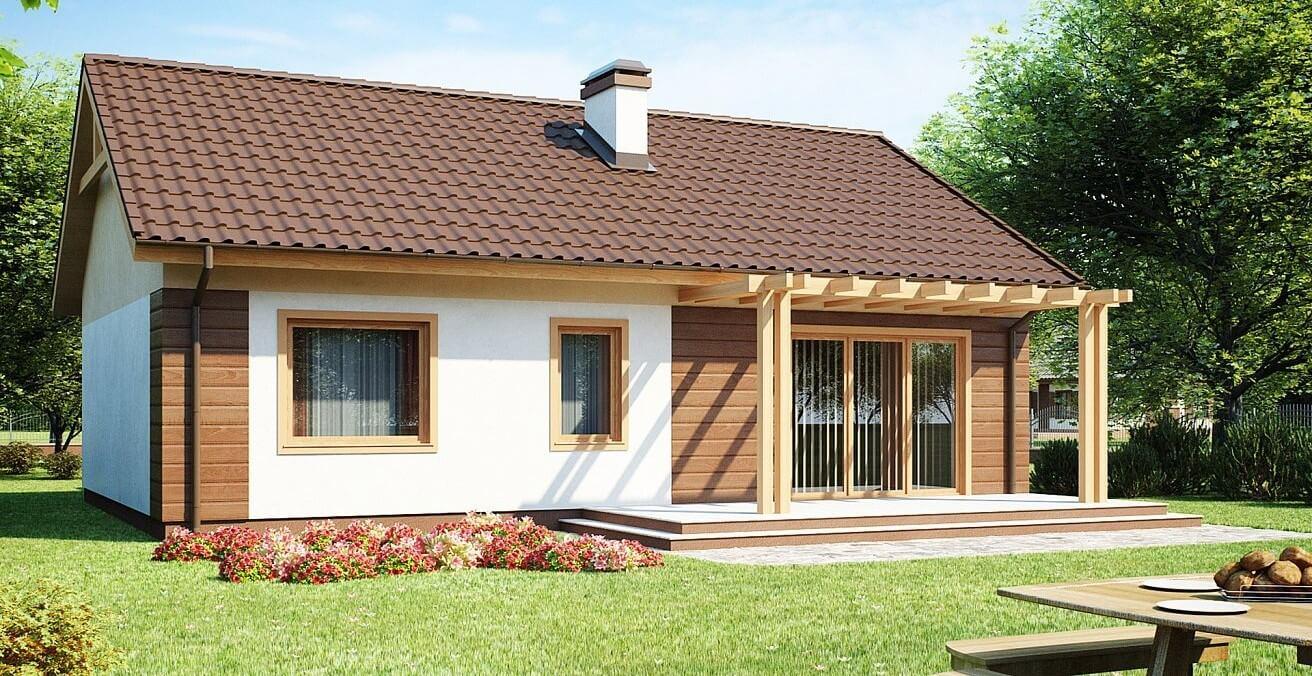 Проект дома из каркаса №7 (92,4 м²)