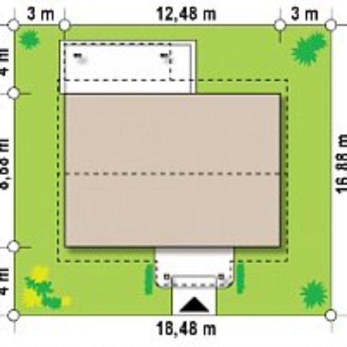 Размеры участка каркасного дома №7 (92,4 м²)