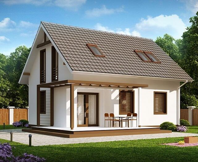 Проект дома из каркаса №8 (91,8 м²)
